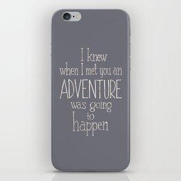 "Winnie the Pooh quote  ""ADVENTURE"" iPhone Skin"
