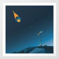 Asteroid Art Print