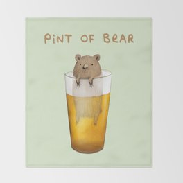 Pint of Bear Throw Blanket