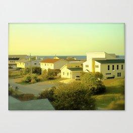 Beach Roof Tops Canvas Print
