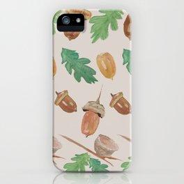 Acorn - gouache iPhone Case