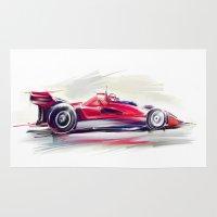 racing Area & Throw Rugs featuring racing car2 by tatiana-teni