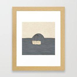 Breathing Underwater Framed Art Print