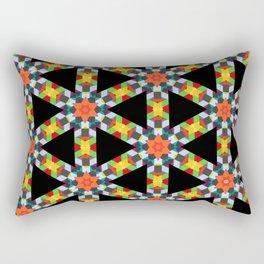 Black Triangle Rectangular Pillow