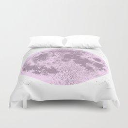 Pink Full Moon Print, by Christy Nyboer Duvet Cover