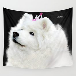 Samoyed Portrait; Harley at 13 yrs Wall Tapestry