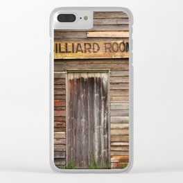 Billiard Room Clear iPhone Case