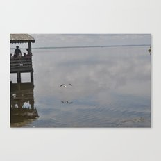 Outerbanks Bay Landscape Scene Canvas Print