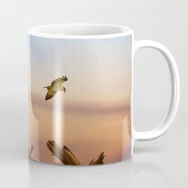 Heron And Osprey At Sunset Coffee Mug