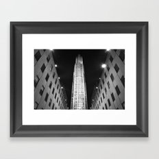 Rockefeller Center Black and White Framed Art Print