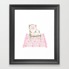 Shabby Chic Arrows Rug and French Chair Framed Art Print