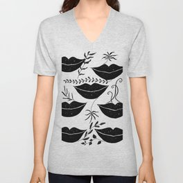 Black lips  Unisex V-Neck