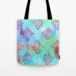Pink Pattern on Abstract Tote Bag