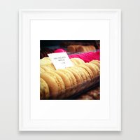 macaron Framed Art Prints featuring Macaron by Emily Werboff