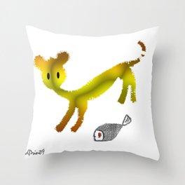 Catty Affairs Throw Pillow