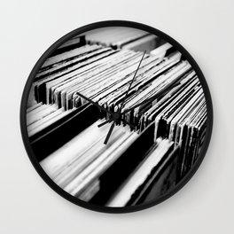record albums music aesthetic elegant mood art photography  Wall Clock