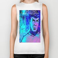 spock Biker Tanks featuring SPOCK by Saundra Myles