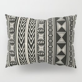 Boho Mud cloth (Black and White) Pillow Sham