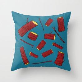 Sticks & Logs Throw Pillow