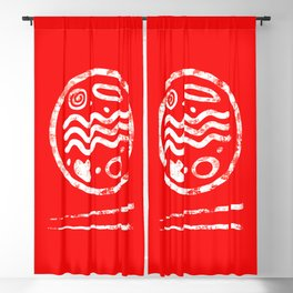 Ramen Logo Blackout Curtain