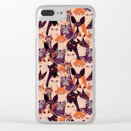Clowder of Cats Clear iPhone Case