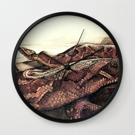"""Kaa"" the Giant Python from Kiplings Tales of the Jungle Wall Clock"