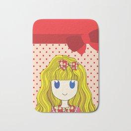 Little Girl with Ribbon Bath Mat