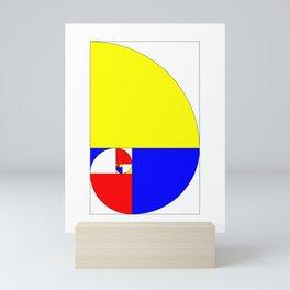 Mondrian in a Fibo-Style Mini Art Print