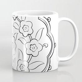 Turkish Traditional Floral Pattern Drawing Coffee Mug