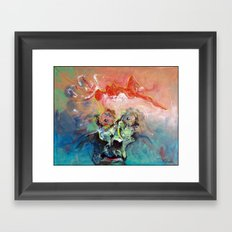 She Is Exploding Off My Mind Framed Art Print