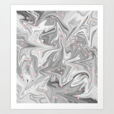 Charcoal Mask & Pimple Pink Art Print