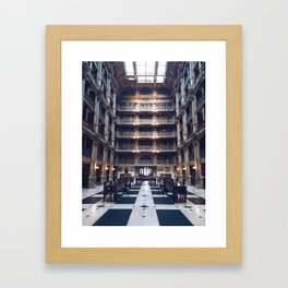 The George Peabody Library Framed Art Print