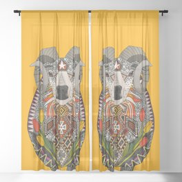 Aries ram saffron Sheer Curtain