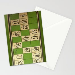FREnch vintage loto game Stationery Cards
