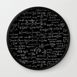 Math Equations // Black Wall Clock