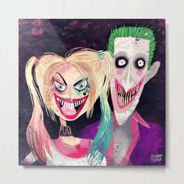 Joker and Harley Quinn Metal Print