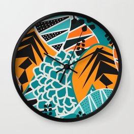 Leaf tropicana Wall Clock