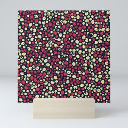 Seamless Pattern with Tiny Red & Yellow Dots Mini Art Print