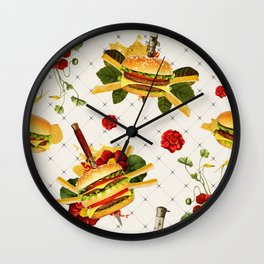 cheeseburger in gangstas paradise Wall Clock