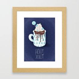 Holly Jolly hot chocolate Framed Art Print