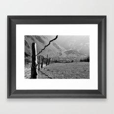 Valley of River Sno   (b/w) Framed Art Print
