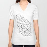 polygon V-neck T-shirts featuring Polygon by Boneva