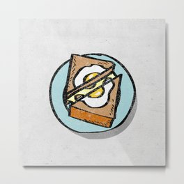 Melted Cheese Sandwich Metal Print