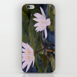 Watercolor Flower Water Lily Landscape Nature iPhone Skin