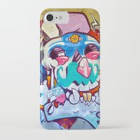 grafitti iPhone & iPod Cases featuring Grafitti Clown by Valann