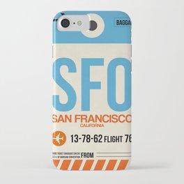 SFO San Francisco Luggage Tag 1 iPhone Case