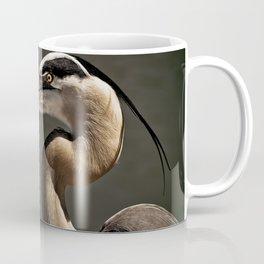 Great Blue Heron Close Up Portrait Coffee Mug