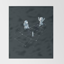 Hopscotch Astronauts Throw Blanket