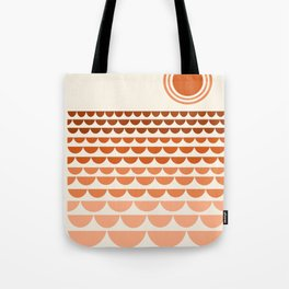 Boogy - retro 70s vibes sunset ocean water desert socal california travel retro minimal Tote Bag