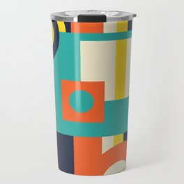 Funky Geometry (Modern Vibrant Color Palette) Travel Mug